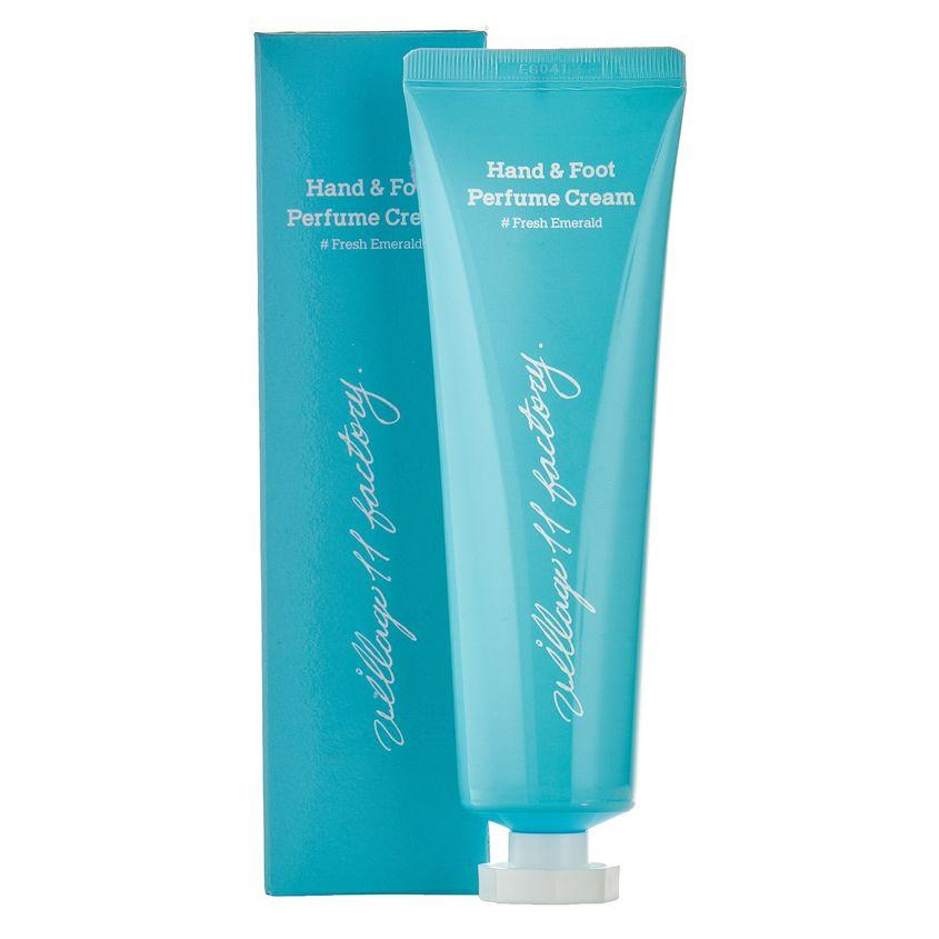VILLAGE 11 FACTORY Парфюмированный крем для рук и ног Свежий изумруд Hand & Foot Perfume Cream #Fresh Emerald