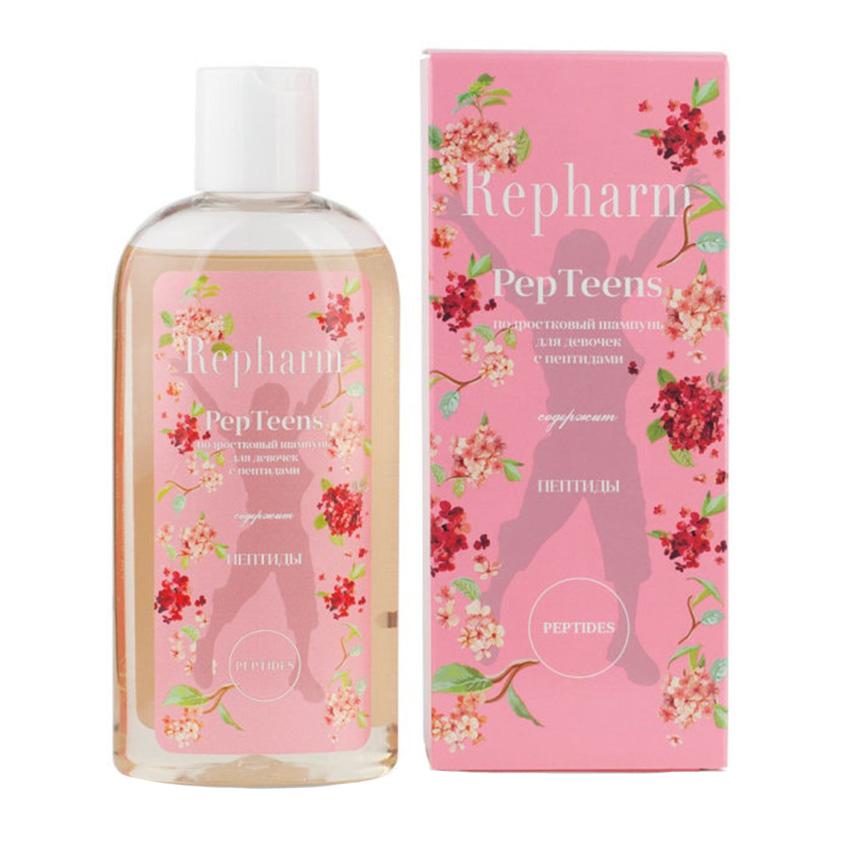 Купить REPHARM Подростковый шампунь с пептидами для девочек PepTeens
