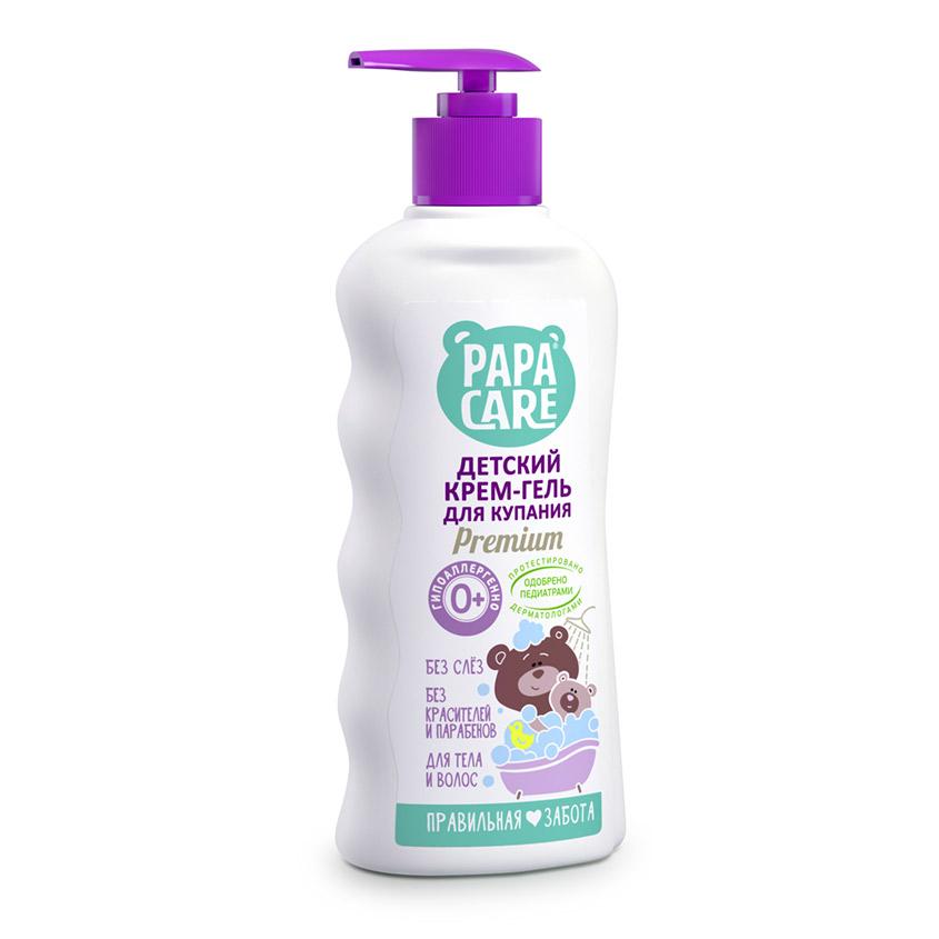 Купить PAPA CARE Крем-гель детский для купания с помпой