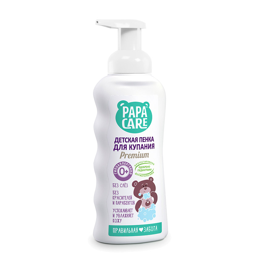 Купить PAPA CARE Пенка детская для купания с помпой