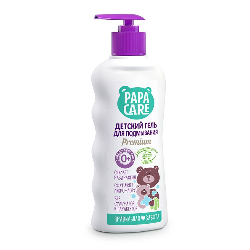 Купить PAPA CARE Гель для подмывания малыша с пантенолом молочными протеинами и экстрактом череды