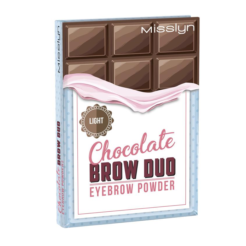 MISSLYN Палетка теней для бровей Chocolate