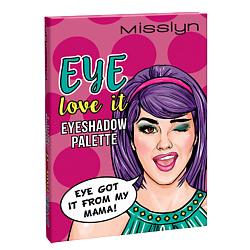 MISSLYN MISSLYN Палетка теней для век EYE love it № 2 I got my eye on you i love you my sunny блокнот