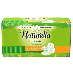 NATURELLA Classic Женские гигиенические прокладки ароматизированные с крылышками Camomile Normal Duo 20 шт.