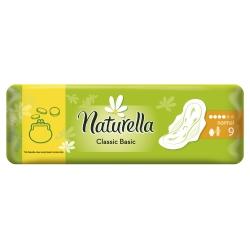 NATURELLA Classic Basic Normal Женские гигиенические прокладки с крылышками 9шт.