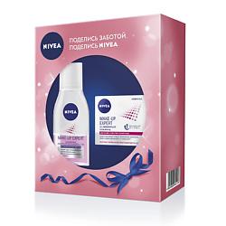NIVEA Набор со средством для снятия макияжа с глаз Двойной эффект 125 мл + 4.8 г