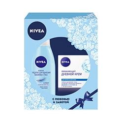 NIVEA Набор для ухода за кожей с увлажняющим дневным кремом Aqua Effect 50 мл + 125 мл