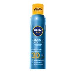 NIVEA Освежающий солнцезащитный спрей Защита и прохлада СЗФ 30 200 мл nivea освежающий солнцезащитный спрей защита и прохлада сзф 30 200 мл