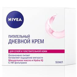 NIVEA Увлажняющий дневной крем для сухой и чувствительной кожи 50 мл