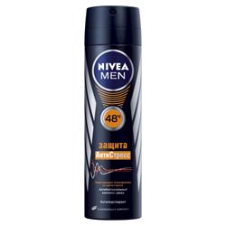 Купить NIVEA Дезодорант-спрей для мужчин Защита Антистресс 150 мл