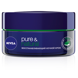 NIVEA Восстанавливающий ночной крем PureNatural для всех типов кожи 50 мл