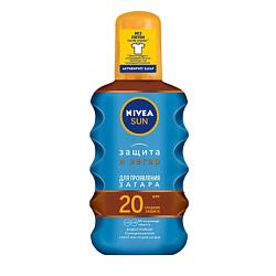 NIVEA Солнцезащитное масло-спрей для загара Защита и загар СЗФ 20 200 мл
