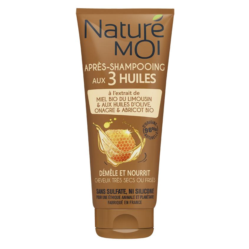 Купить NATURE MOI Бальзам-ополаскиватель для волос с экстрактом меда и 3-х масел оливы-ослинника-абрикоса BIO