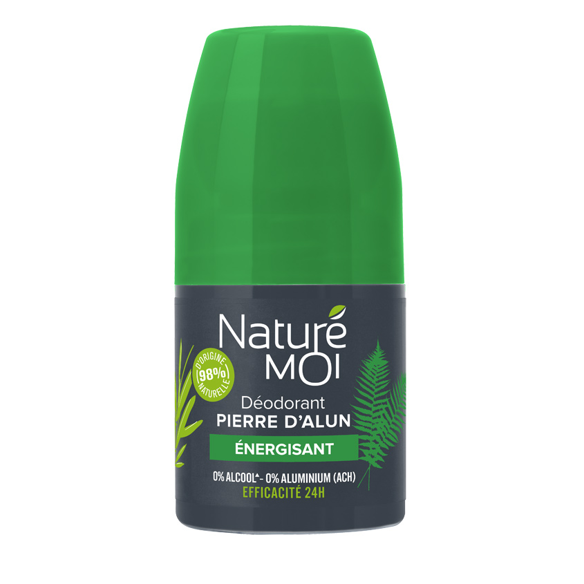 NATURE MOI Мужской роликовый дезодорант с камнем квасцов с тонизирующим ароматом