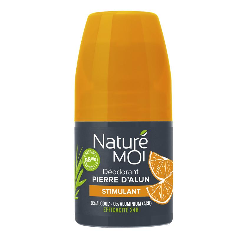NATURE MOI Мужской роликовый дезодорант с камнем квасцов с стимулирующим ароматом