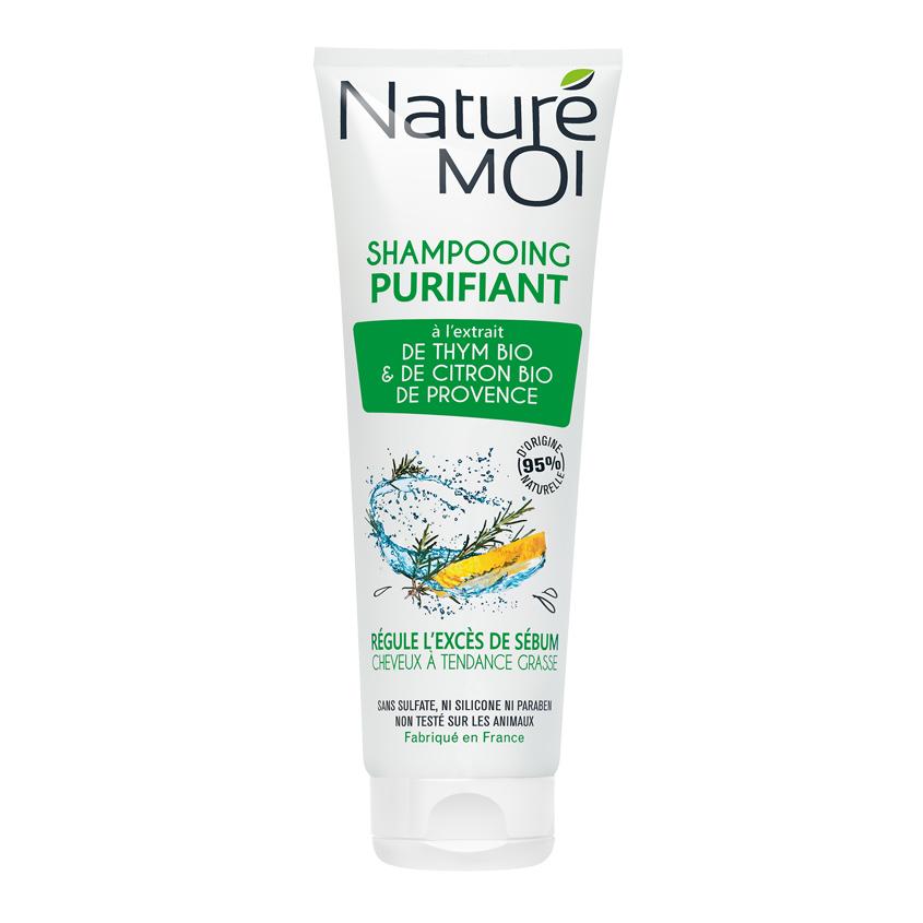 NATURE MOI Шампунь для волос очищающий с экстрактами TМИНА и ЛИМОНА BIO