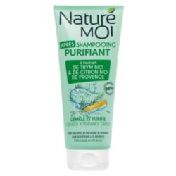 NATURE MOI Бальзам-ополаскиватель для волос очищающий с экстрактами TМИНА и ЛИМОНА BIO 200 мл