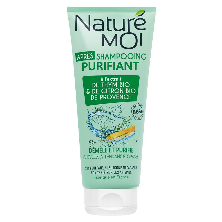 NATURE MOI Бальзам-ополаскиватель для волос очищающий с экстрактами TМИНА и ЛИМОНА BIO