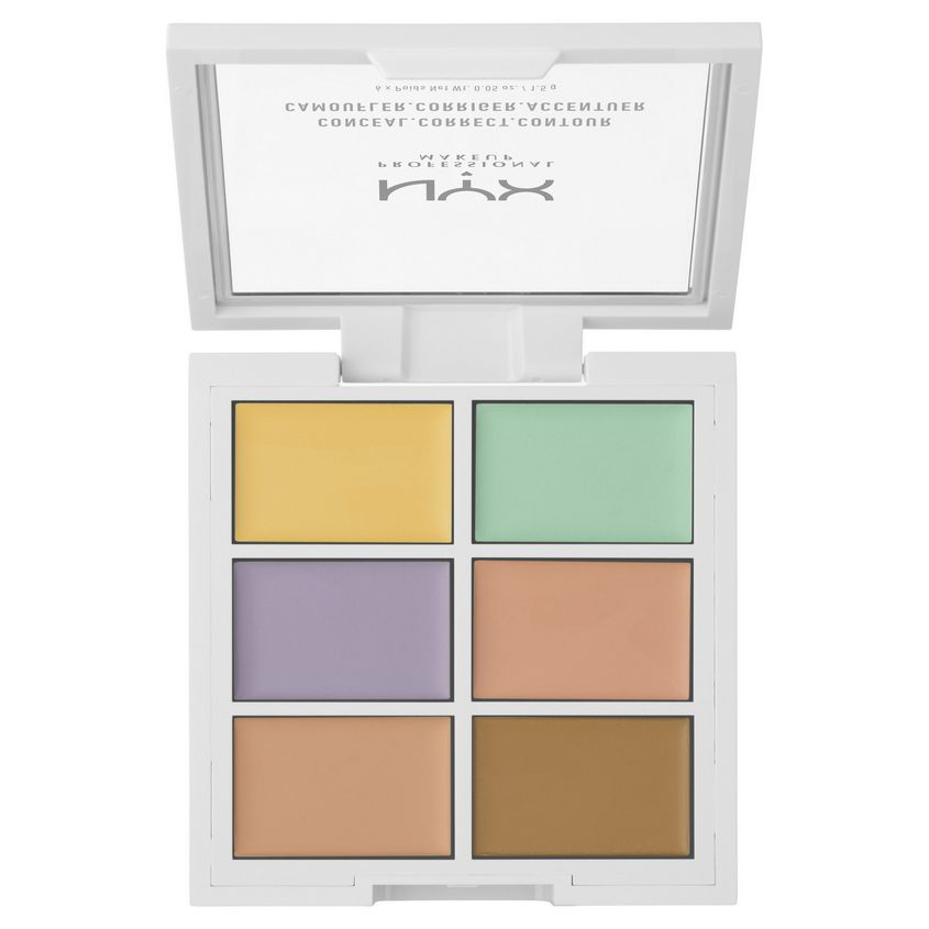 NYX Professional Makeup Палетка для коррекции цвета. CONCEAL, CORRECT, CONTOUR PALETTE