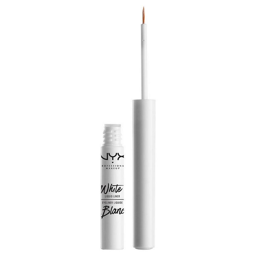 NYX Professional Makeup Жидкий лайнер белого цвета. WHITE LIQUID LINER  - Купить