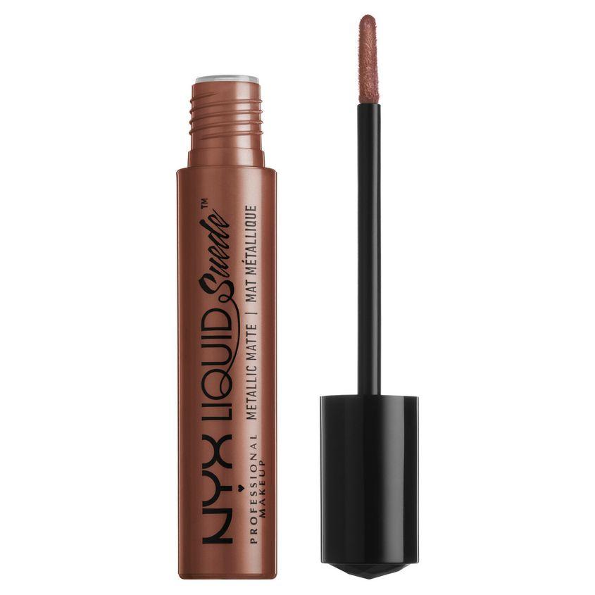 NYX Professional Makeup Жидкая губная помада с бархатным, металлическим финишем. LIQUID SUEDE METALLIC MATTE фото