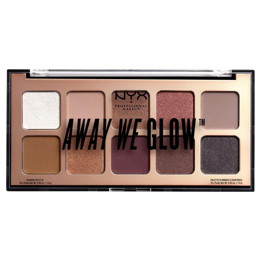 Купить NYX Professional Makeup Палетка теней для век. AWAY WE GLOW SHADOW PALETTE
