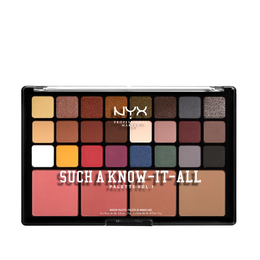 Купить NYX Professional Makeup Палитра для макияжа глаз и лица SUCH A KNOW-IT-ALL PALETTE