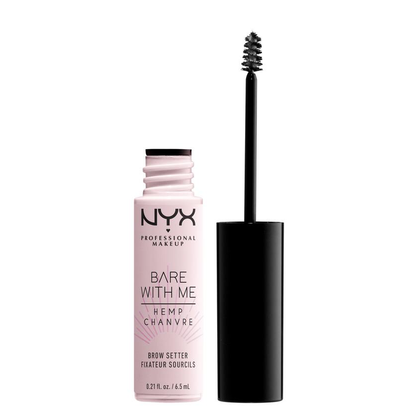 NYX Professional Makeup Фиксирующий гель-уход для бровей с маслом семян конопли BARE WITH ME BROW SETTER