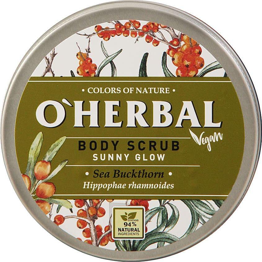 OHERBAL Скраб для тела VEGAN Солнечное сияние Облепиха