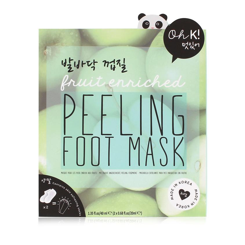 Купить OH K PEELING FOOT MASK - Маска для ног смягчающая и отшелушивающая
