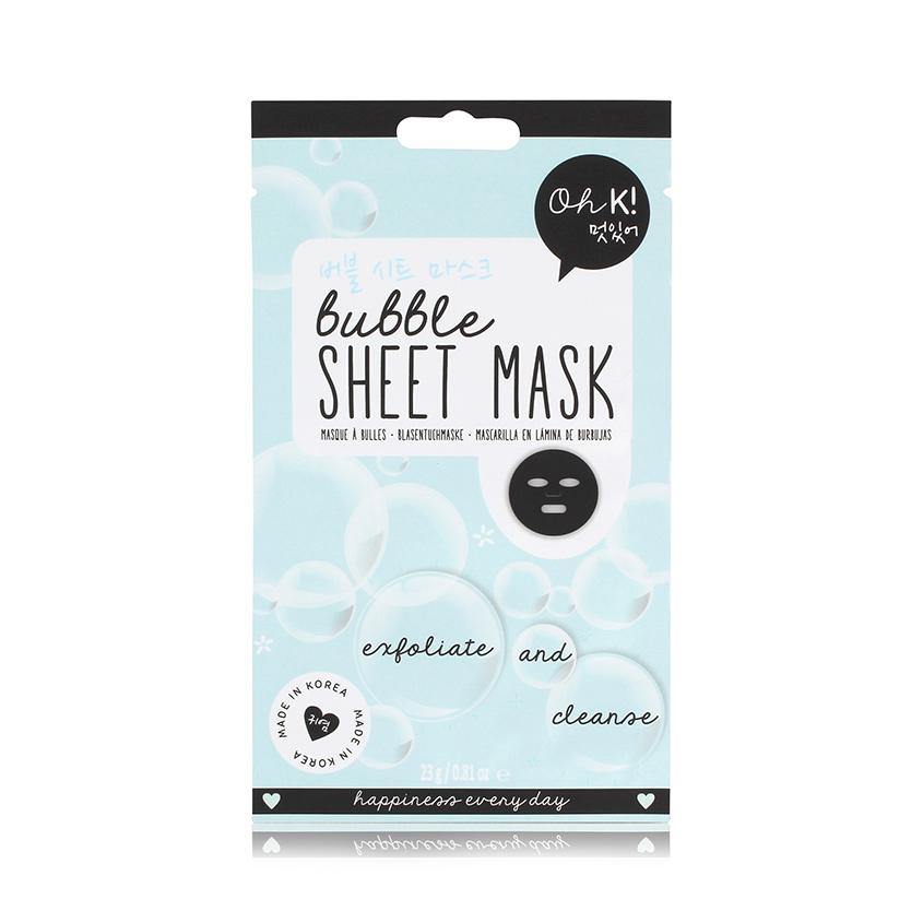 Купить OH K! SHEET MASK BUBBLE Маска для лица пузырьковая очищающая и отшелушивающая