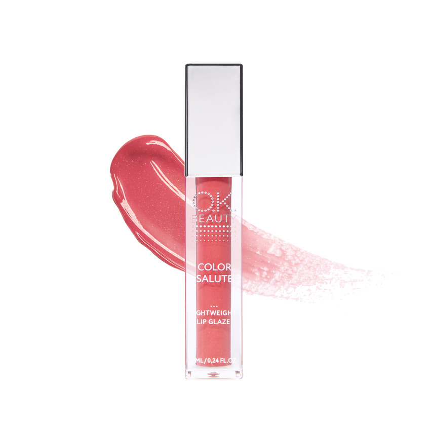 Купить OK BEAUTY Легкий сияющий блеск для губ OK BEAUTY COLOR SALUTE LIGHT WEIGHT LIP GLAZE