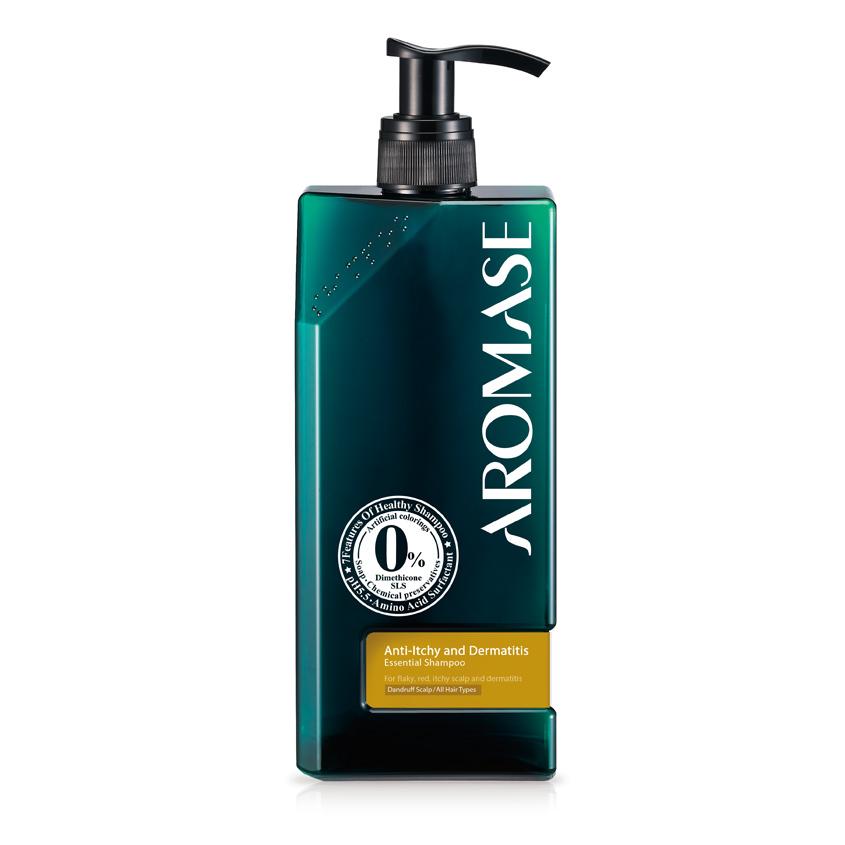 AROMASE Шампунь против перхоти для всех типов волос с эфирным маслом