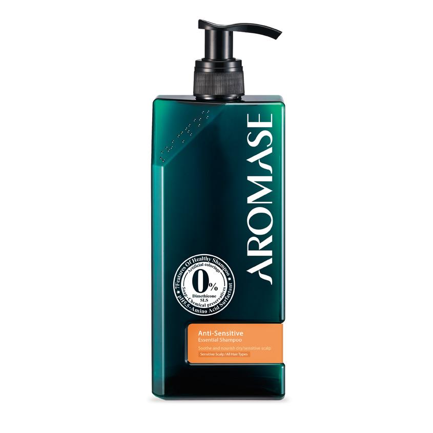 AROMASE Шампунь для сухой и чувствительной кожи головы с эфирным маслом фото
