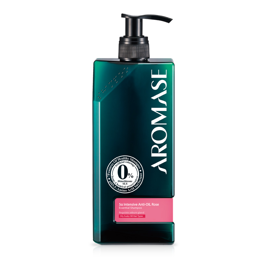 AROMASE Шампунь интенсивный для жирной кожи головы с эфирным маслом Розы