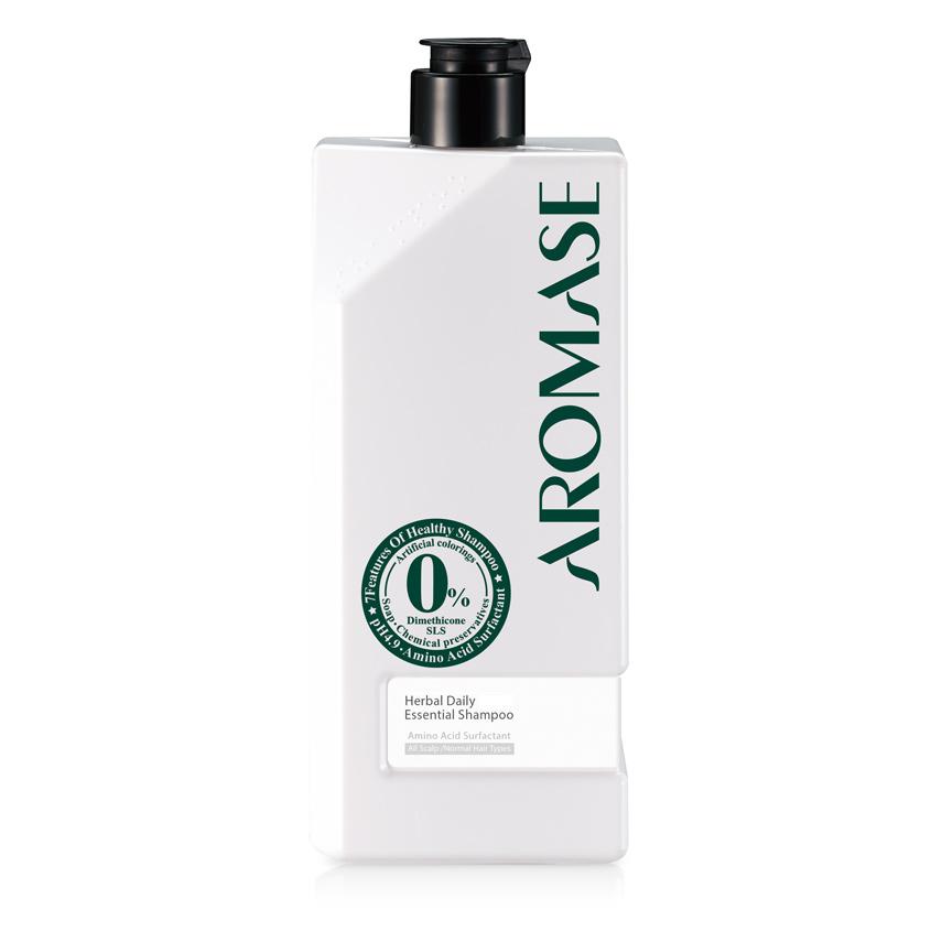 AROMASE Шампунь травяной для ежедневного применения для всех типов волос с эфирным маслом
