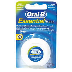 ORAL- Зубная нить Essential floss мятная 50 м
