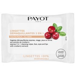 PAYOT Очищающие салфетки для снятия макияжа с лица, глаз и губ с экстрактом клюквы 25 шт.
