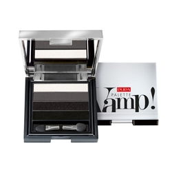 PUPA Тени Vamp! Palette 4 - Eyeshadow Palette Liquid Powder Effect № 001 Дымчатый черный