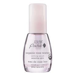 100% PURE Сыворотка органическая успокаивающая Organic Rose Water Sensitive Skin Collection 30 мл альфа липоевая кислота капсулы 30 шт