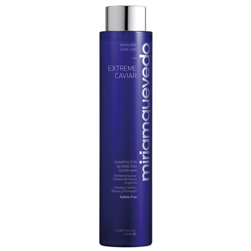 MIRIAM QUEVEDO Шампунь для светлых и седых волос с экстрактом черной икры Extreme Caviar Shampoo for Blonde and Silver Hair.