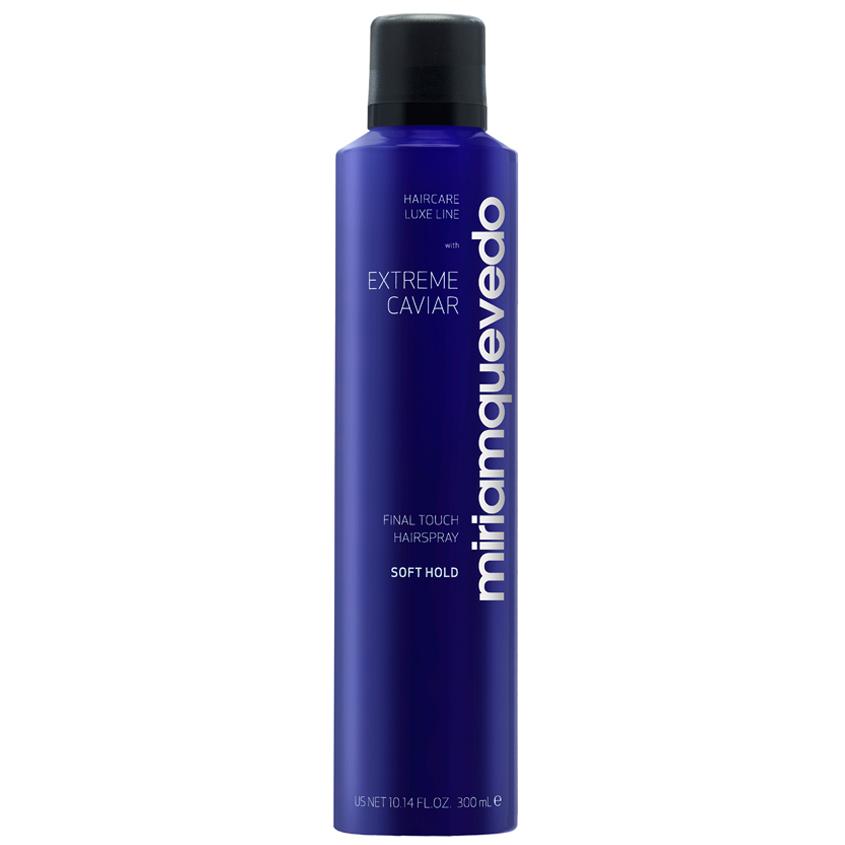 MIRIAM QUEVEDO Лак для волос легкой фиксации с экстрактом черной икры Extreme Caviar Final Touch Hairspray – Soft Hold.