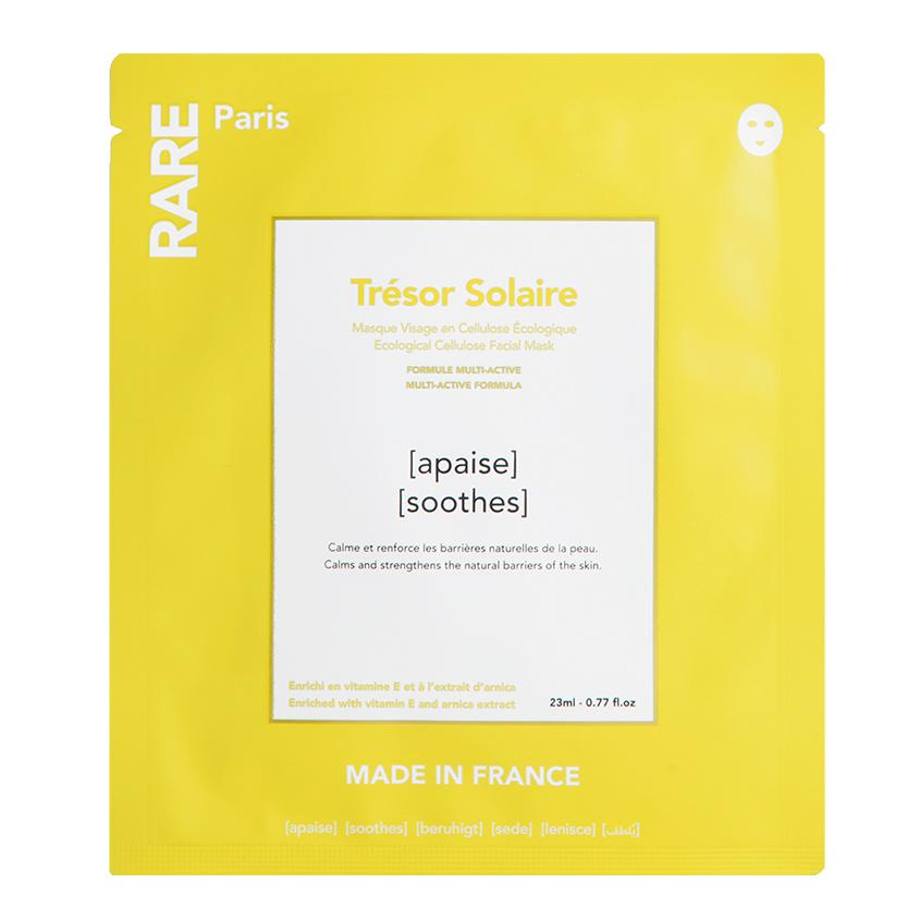 Купить RARE PARIS Успокаивающая и укрепляющая тканевая маска Trésor Solaire