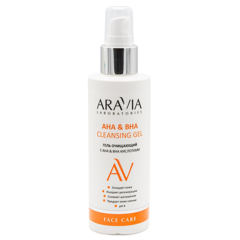 ARAVIA LABORATORIES Гель очищающий с АНА и ВНА кислотами AHA&BHA Cleansing Gel