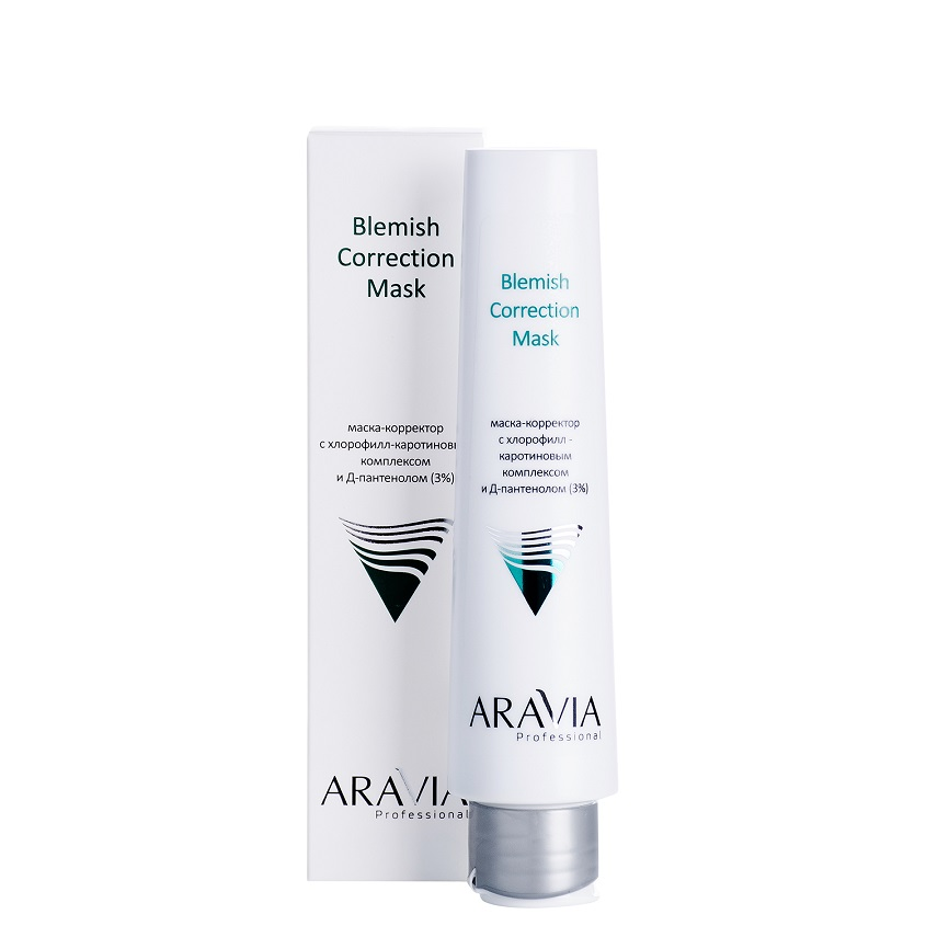 ARAVIA PROFESSIONAL Маска-корректор против несовершенств с хлорофилл-каротиновым комплексом и Д-пантенолом (3%) Blemish Correction Mask