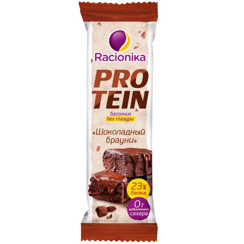 RACIONIKA Батончик высокобелковый Шоколадный брауни