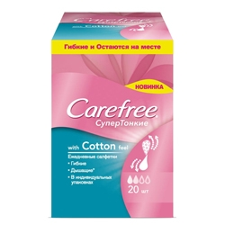 CAREFREE �������� ����������� Cotton feel ����������������� � �������������� �������� 20 ��.