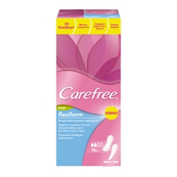 CAREFREE CAREFREE Прокладки ежедневные воздухопроницаемые 18 шт. прокладки ежедневные carefree кэфри флексиформ воздухопроницаемые 30шт