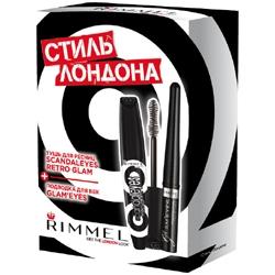 RIMMEL Набор для макияжа с тушью Scandal Eyes Retro Glam Mascara