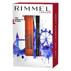 RIMMEL RIMMEL Набор для макияжа глаз № 001 + № 061 тушь для ресниц rimmel volume shake 001 цвет 001 variant hex name 000000